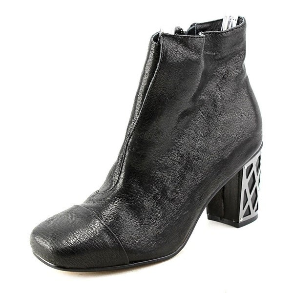 Nina Vignette Women Square Toe Leather Ankle Boot
