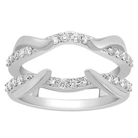Wedding Ring Jacket 1/2cttw Diamonds 14K White Gold 11mm Wide(0.51 cttw) By MidwestJewellery