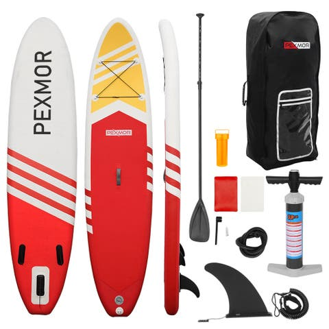 Inflatable Stand Up Paddle Board (6 Inches Thick) with Premium SUP Accessories & Carry Bag