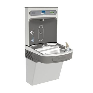 Elkay EZSDWSSK EZH2O Wall Mount Drinking Fountain and Bottle Filling Station with Silver Ion Anti-Microbial Protection