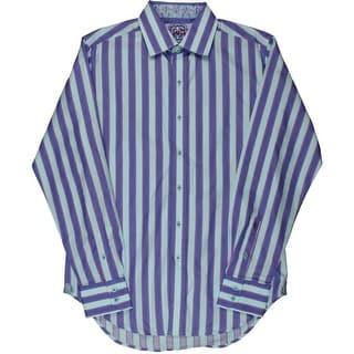 Robert Graham Mens Cotton Long Sleeves Dress Shirt - S