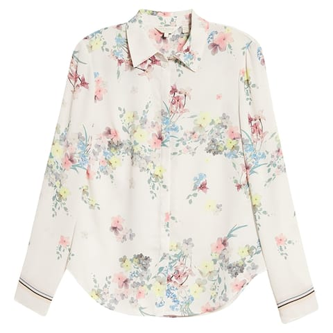 Ted Baker Womens Aadele Pergola Floral ButtonUp Shirt Blouse