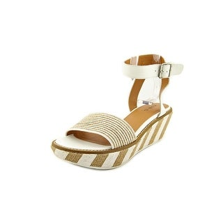Kelsi Dagger Crown Heights Women Open Toe Canvas White Sandals