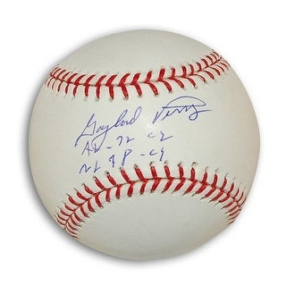 """Autographed Gaylord Perry MLB Baseball Inscribed """"AL-72 Cy NL-78 Cy"""""""