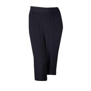 Alfani Women's Elastic Waist Wide Leg Cropped Pants