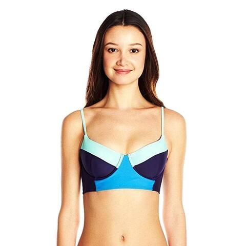 Roxy Junior's Color Me Badd Underwire Cami Bikini Top, Astral Aura, Small