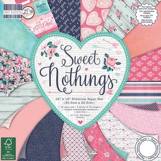 "First Edition Premium Paper Pad 12""X12"" 48/Pkg-Sweet Nothings, 16 Designs/3 Each"