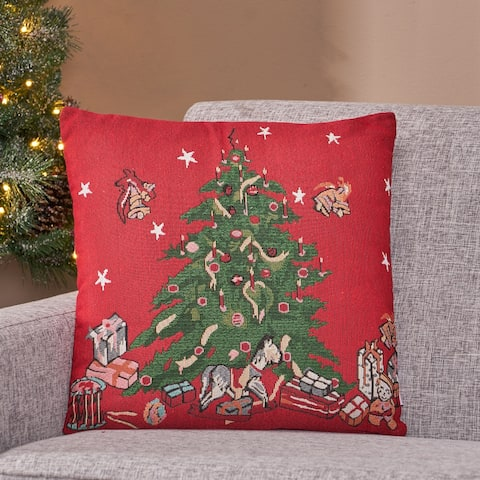 Sherard Modern Fabric Christmas Throw Pillow by Christopher Knight Home