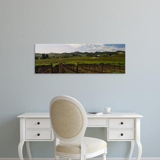 Easy Art Prints Panoramic Images's 'Cloud over a vineyard, California, USA' Premium Canvas Art