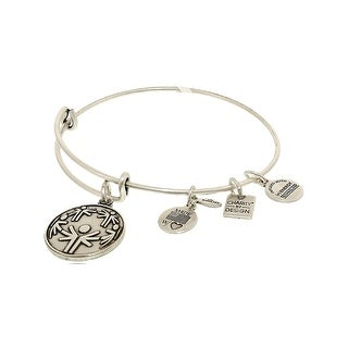 Alex And Ani Women's Power Of Unity Rafaelian Silver Charm Bracelet - 8""