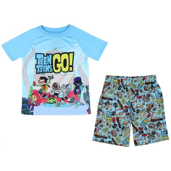 Teen Titans Go! Big Boys Chill 2 Piece Short Pajama Set. Opens flyout.