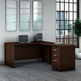 Series C 60W L Shaped Desk with Drawers by Bush Business Furniture