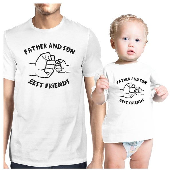 Father And Son Best Friends White Matching Shirts Father's Day Gift