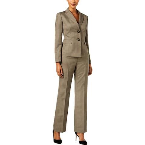 Le Suit Womens Pant Suit Office Wear Professional