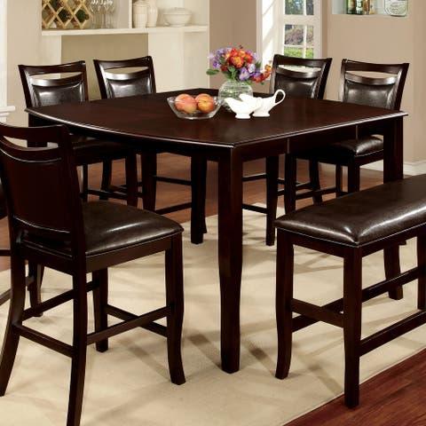 Furniture of America Zita Contemporary Espresso 54-inch Counter Table