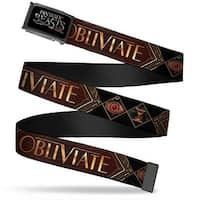 Fantastic Beasts And Where To Find Them Logo Fcg Black Silver Fade  Web Belt
