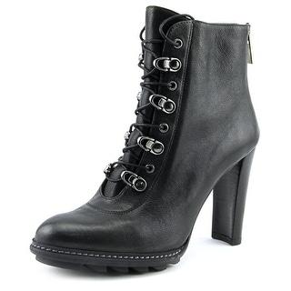 Stuart Weitzman Nutyra   Round Toe Leather  Ankle Boot