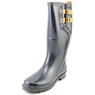 Chooka Top Solid Women  Round Toe Synthetic Gray Rain Boot