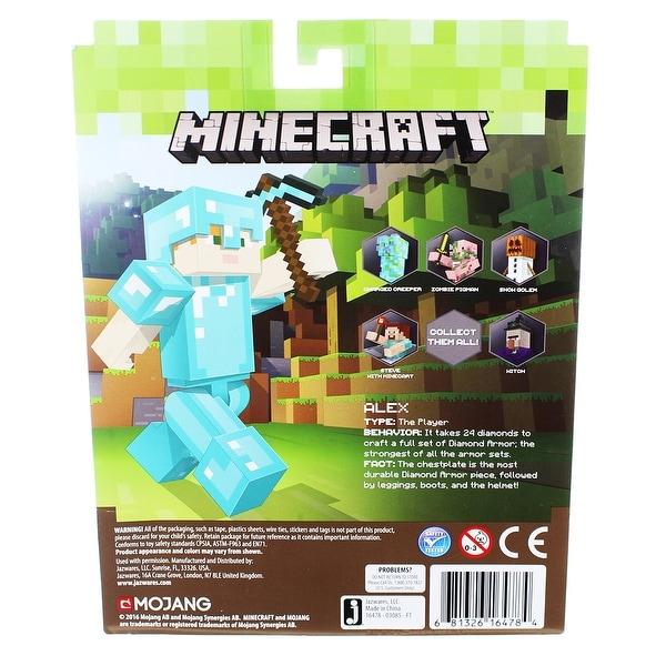 Minecraft Alex with Diamond Armor Pack