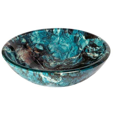 Eden Bath Cliffside Glass Vessel Sink - Blue