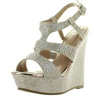 Anne Marie Womens 40-Kendra1 Open Toe High Heel Wedge Platform Sandal Shoes