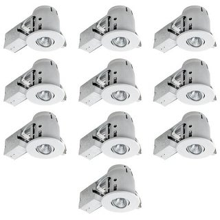 "Globe Electric 90540 4"" Recessed Lighting Kit Combo 10 Pack"