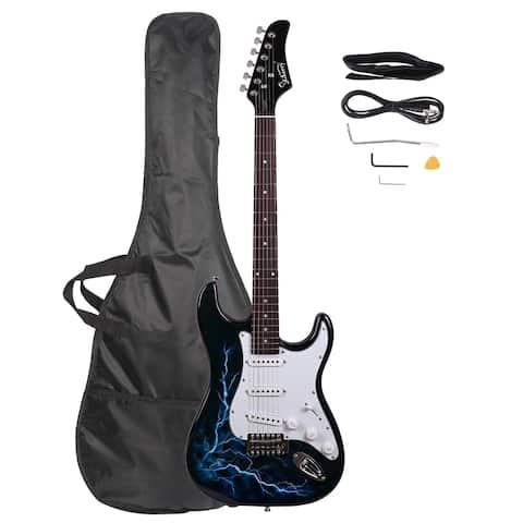Glarry GST-E Electric Guitar Bag Shoulder Strap Pick
