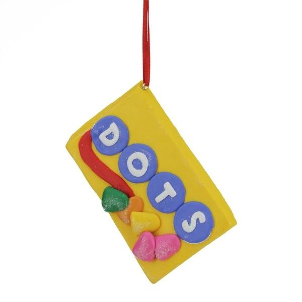 "3.5"" Candy Lane Tootsie Roll DOTS Original Gumdrop Candies Christmas Ornament"