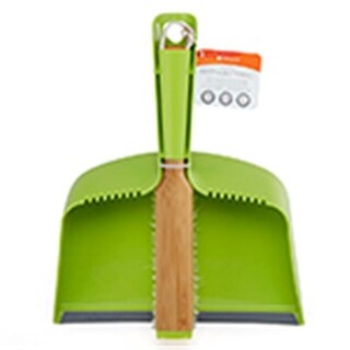 Frontier Natural Products Clean Team Brush & Dust Pan Set, Green