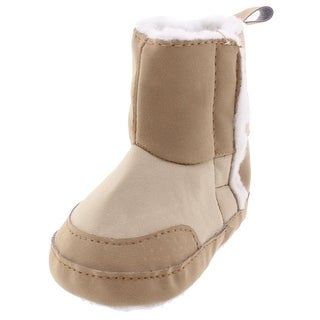 Luvable Friends Booties Infant Lined Tan 0-6 MO - 0-6 mo