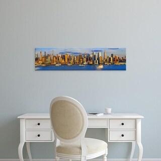 Easy Art Prints Panoramic Images's 'View of Manhattan skyline, New York City, New York State, USA' Premium Canvas Art
