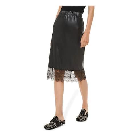 MICHAEL KORS Womens Black Knee Length Pencil Skirt Size L
