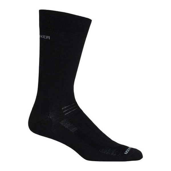 811776395cc Shop Icebreaker Men s Hike Ultra Light Liner Crew (2 Pairs) Black - On Sale  - Free Shipping On Orders Over  45 - Overstock - 20461502