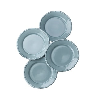 Euro Ceramica Savannah Solid Color Salad/Dessert Plates (Set of 4)