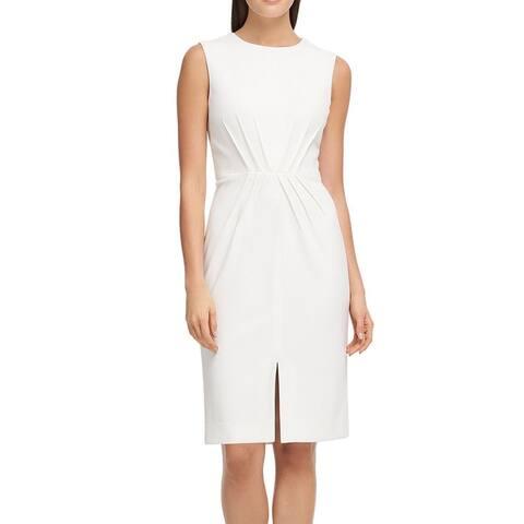 Donna Karan Women's Dress Sheath Pintucked Scuba Crepe