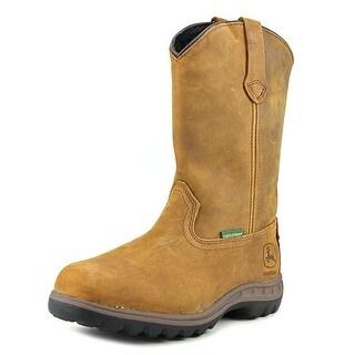 "John Deere Poplar 10"" Waterproof Pull On Women Leather Brown Hunting Boot"