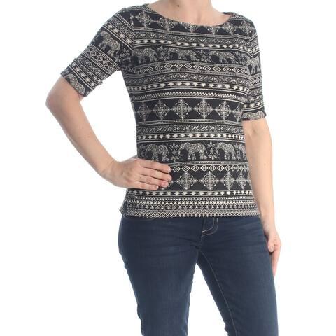 96eb2b1917e5f KAREN SCOTT Womens Black Nordic Raglan Crew Neck T-Shirt Top Size: XS