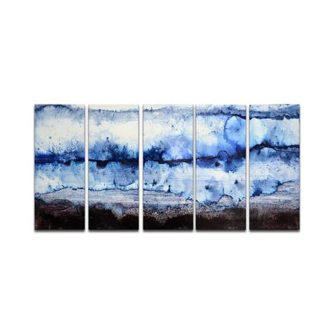 'Glacier' 5 Piece Wrapped Canvas Wall Art Set by Norman Wyatt Jr.