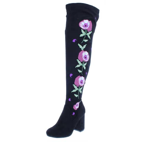 Carlos by Carlos Santana Women's Quality Embroidered Over-The-Knee Boots