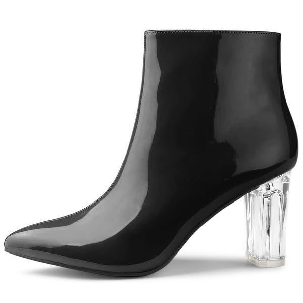 Allegra K Women/'s Platform Chunky Heel Ankle Boots