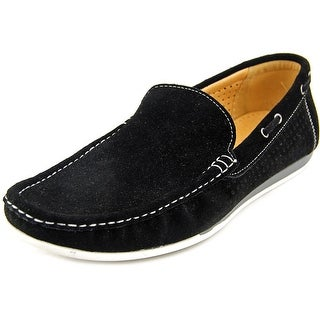 Masimo New York Austin 2 Men Moc Toe Suede Black Loafer