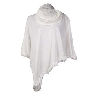 Alfani Women's Faux Fur Trim Poncho Sweater - s