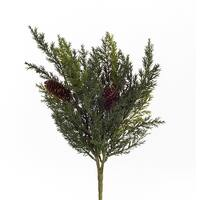 Club Pack of 12 Green and Brown Decorative Artificial Arborvitae Bushes 14""