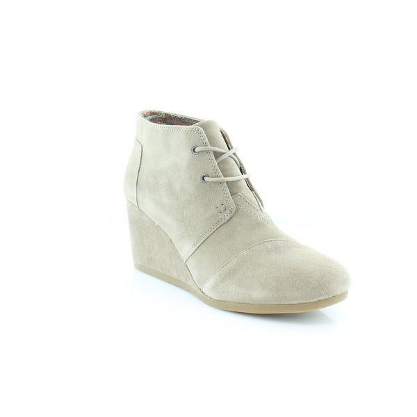 TOMS Desert Wedge Women's Boots Taupe - 11