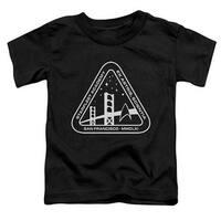 Star Trek-White Academy Logo - Short Sleeve Toddler Tee - Black&#44