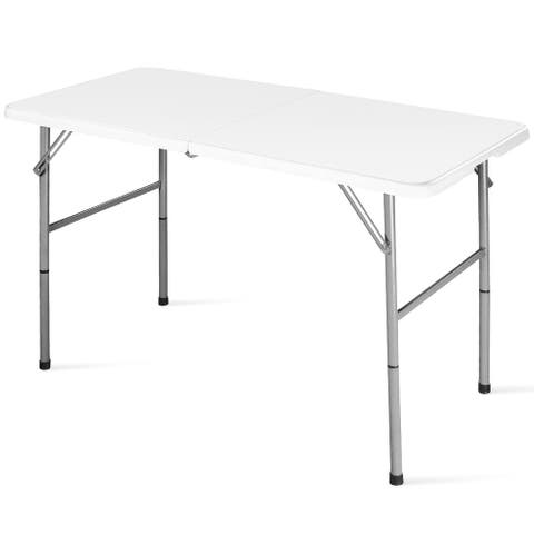 Costway 4' Folding Table Portable Indoor Outdoor Picnic Party Dining