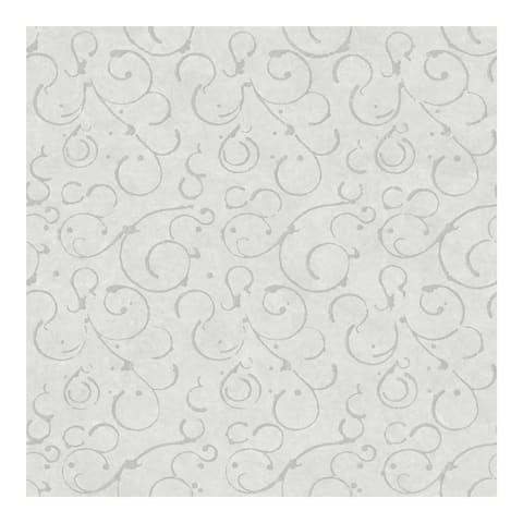 Shin Pewter Golden Scroll Texture Wallpaper - 20.5in x 396in x 0.25in