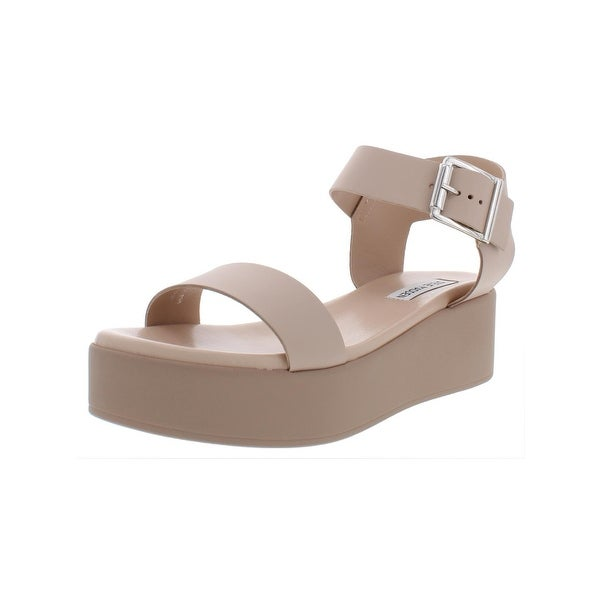 961f7949ee2 Shop Steve Madden Womens Recover Wedge Sandals Leather Ankle Wrap ...