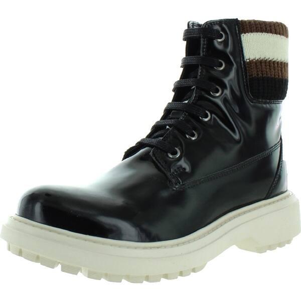 partido Republicano caricia Cívico  Shop Geox Respira Womens Ashleey Lace-Up Boot Patent Ribbed Trim - Black -  6 Medium (B,M) - Overstock - 32054001