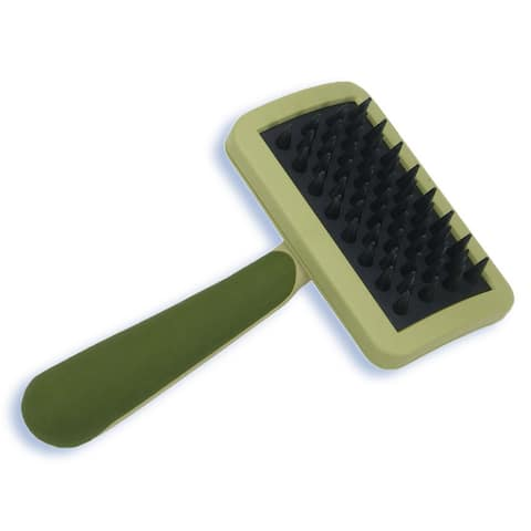 "Safari Cat Massage Brush 6.5"" x 3.2"" x 2"" - Green - 6.5"" x 3.2"" x 2"""